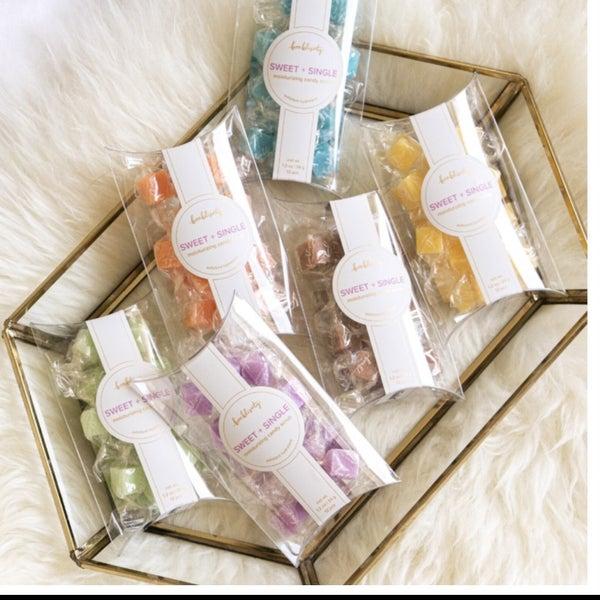 Sweet + Single Moisturizing Candy Scrubs 6 Options
