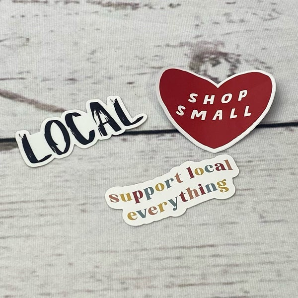 Support Small Business Sticker- 2 Options