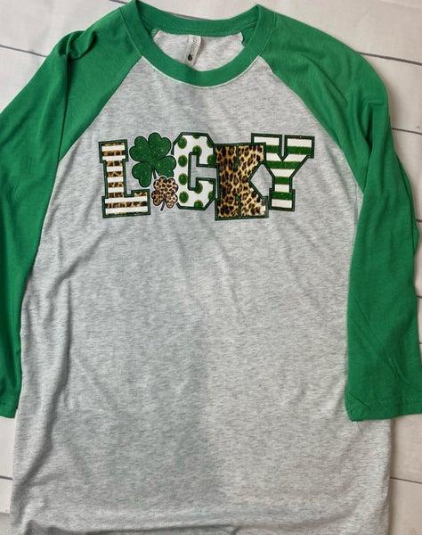 Lucky  Baseball Sleeve T-shirt