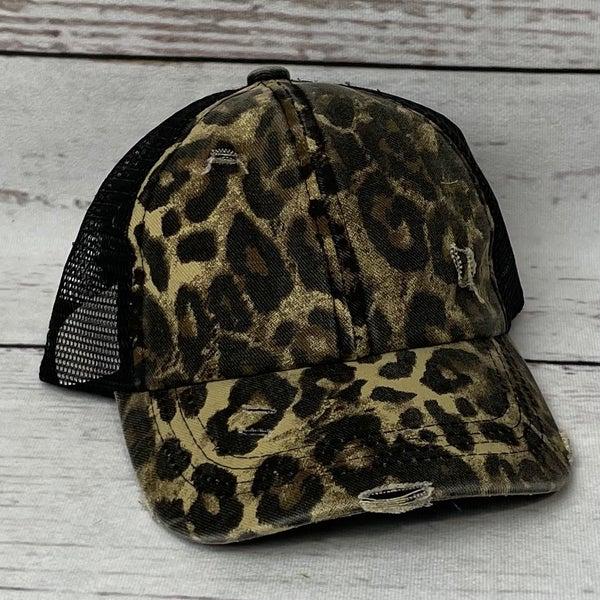 Leopard CC Crisscross Hat
