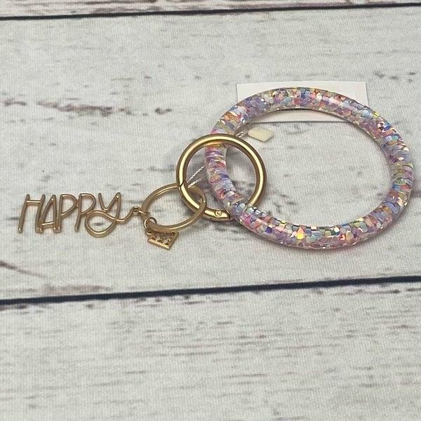 Happy Confetti Bracelet Keychain