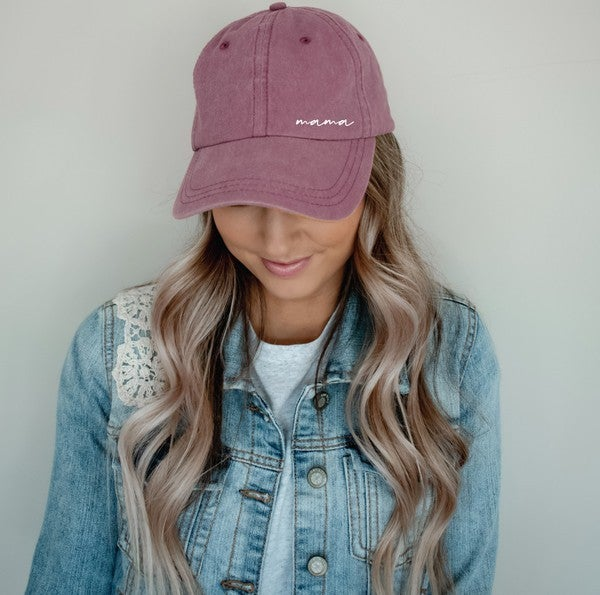 MAMA Embroidered Hat Vintage Wash