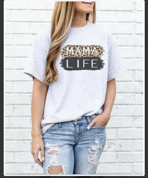Leopard MAMA Life T-shirt {S-2X}