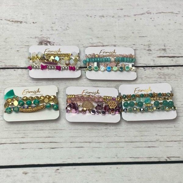Erimish Stack Bracelets Set of 4- 5 options available