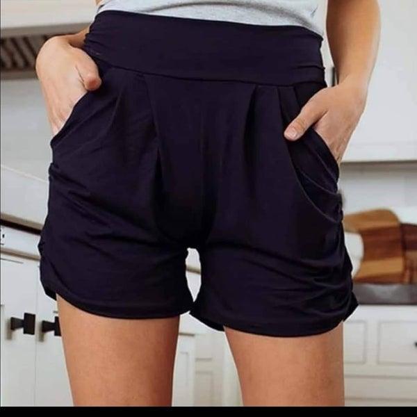 Navy Harem Shorts