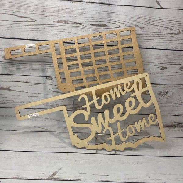 Oklahoma Home Sweet Home or Wine Caps Holder