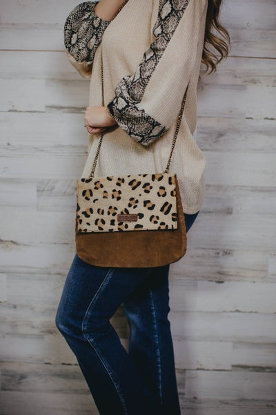 Jane Marie Leopard  Crossbody Purse