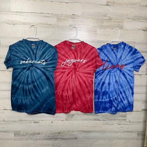 Local High School Tie Dye T-shirts WHS, MHS, SHS