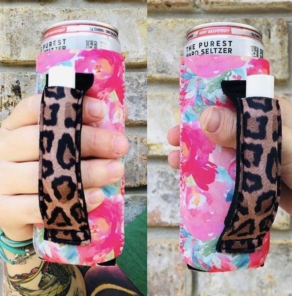 12 oz. Slim Can Lit Handlers Koozie Assorted Colors Available