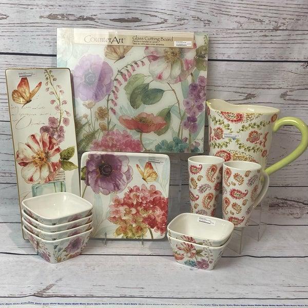 Floral Dish 13 Piece Set