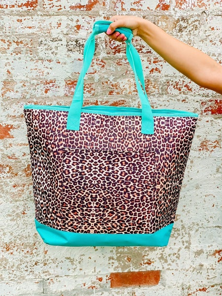 Leopard insulated tote coolers