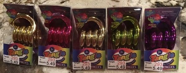 Tangle Jr. Metallic Brain Tools Toy 5 color options