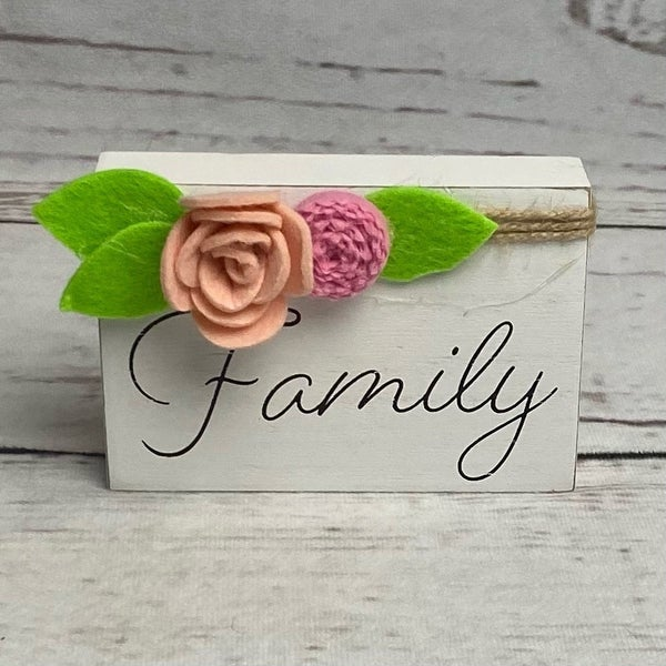Home Decor Family Wood Block