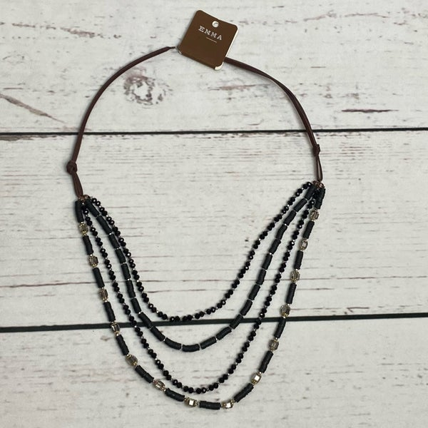4 Layer Black Necklace
