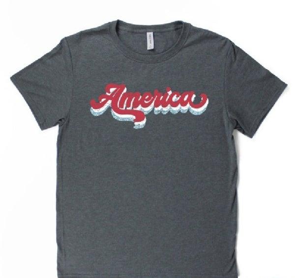Grey Vintage America T-shirt