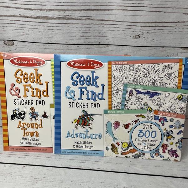 Melissa & Doug Seek & Find Sticker Pad