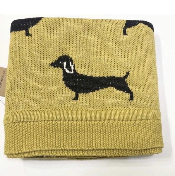 Weenie Dog Baby Blanket