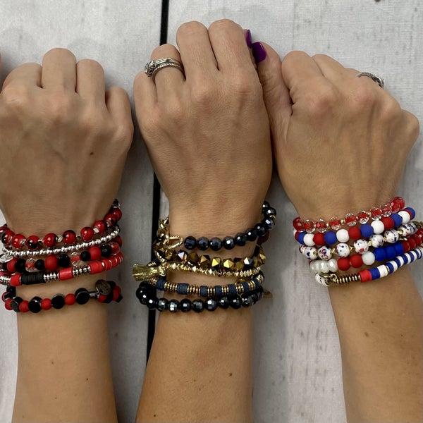 Local School Colors Erimish Stack Bracelets Set of 5-MHS, SHS, WHS