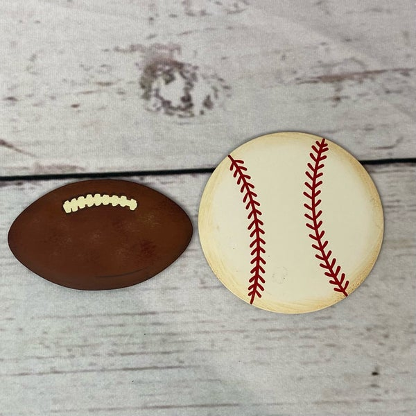Round Top Charm Magnet Sports Theme