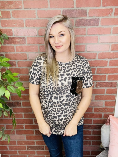 Easily Spotted Leopard Pocket Tee