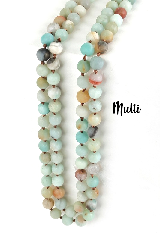 My Natural Stone Beaded Necklace