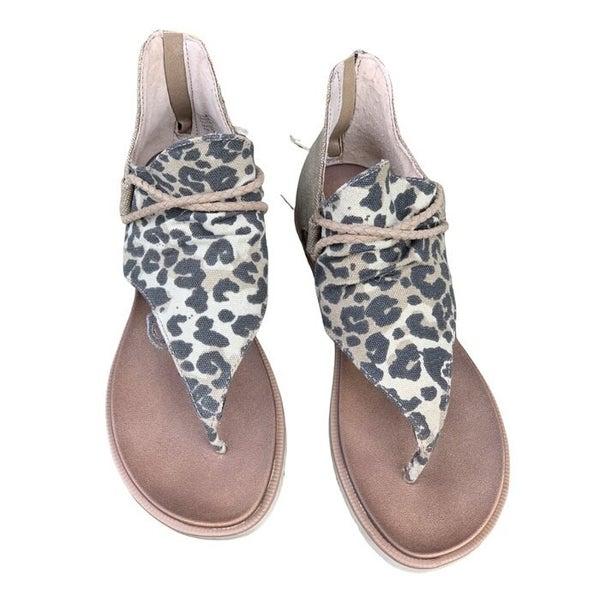 Catch Up To Me Leopard Spartan Sandal