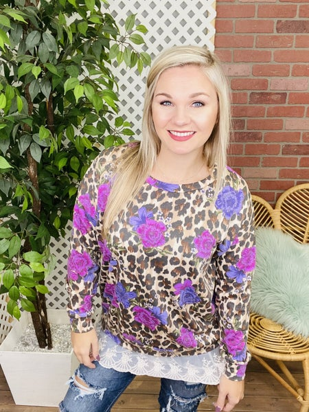 Vision In The Wild Leopard Floral Top