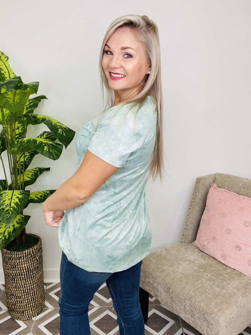 Changing Of The Tide TieDye Top