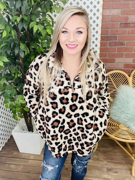Roaming Free Leopard Pullover