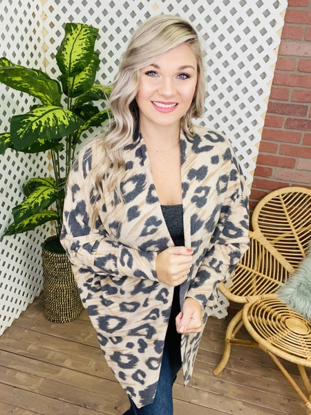 Out On The Prowl Leopard Cardigan