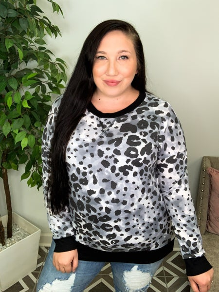 Seek You Out Snow Leopard Top