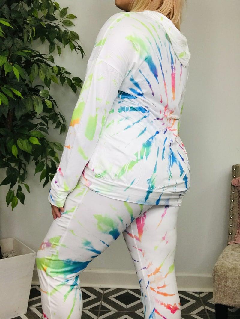 Rainbow Tie-Dye Lounge Set