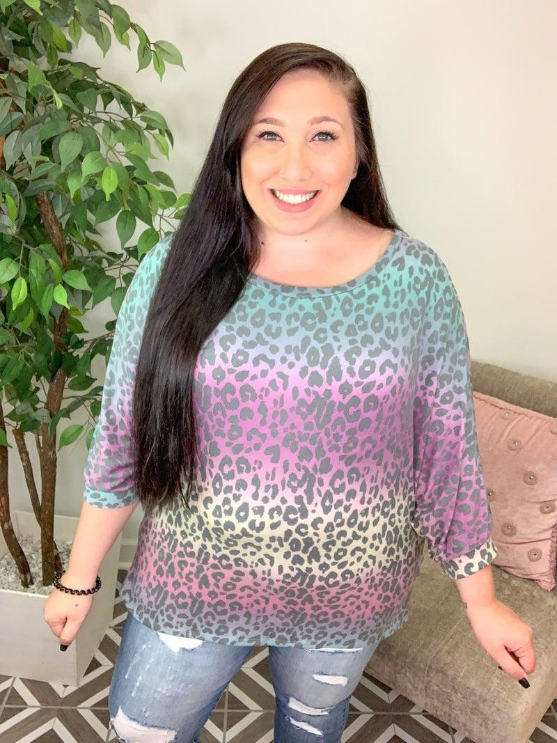 Struttin' My Colors Leopard Top
