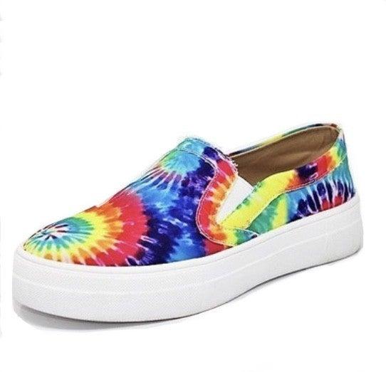 Rainbow TieDye Sneakers
