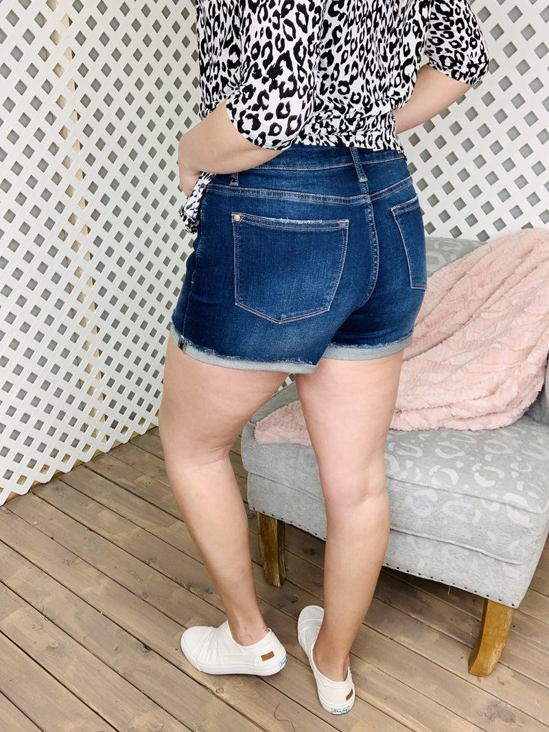 Judy Blue Locked And Loaded Cuffed Shorts