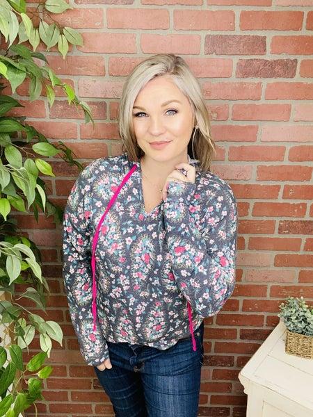 Flirty Floral Paisley Hoodie