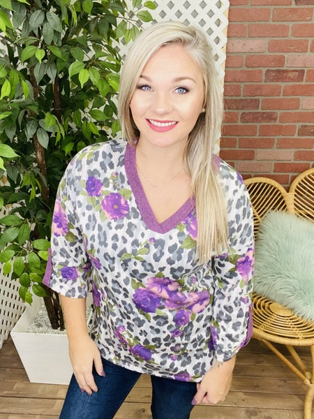Live In Harmony Leopard Floral Top