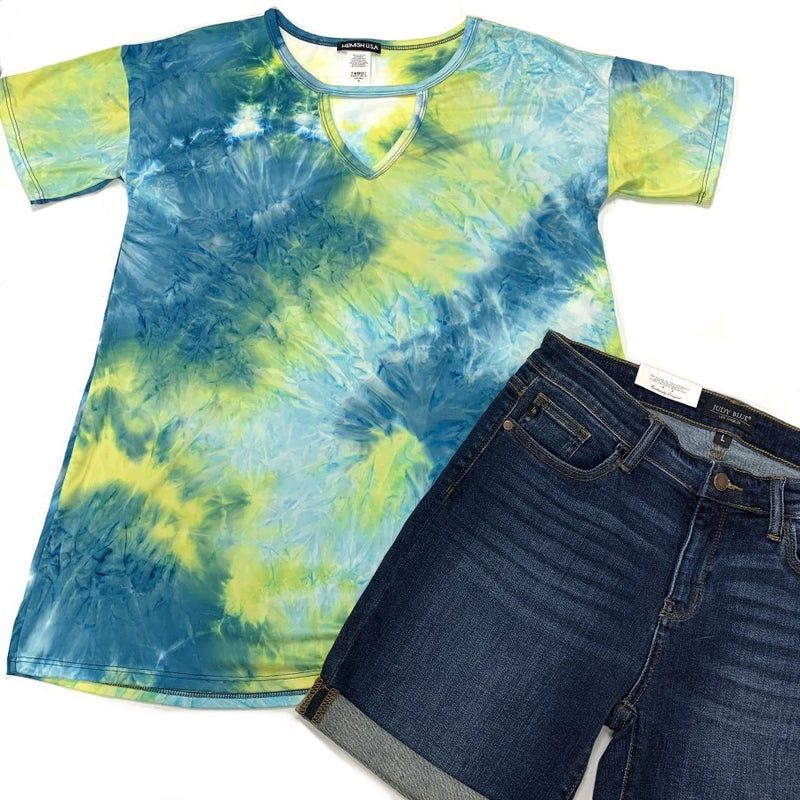 In Your Limelight TieDye Top