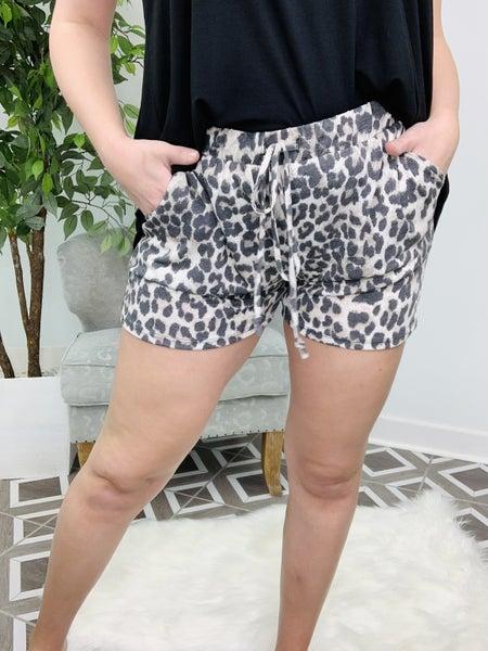 Spot Me Lounging Leopard Shorts