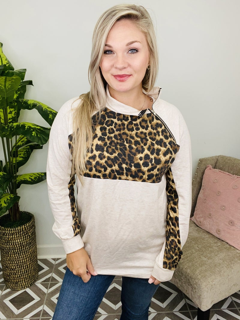 Steal Your Time Leopard Top
