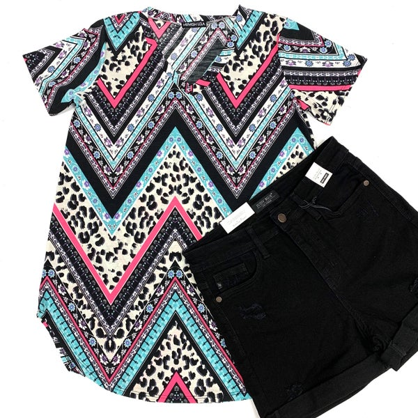 Wildly Yours Chevron Top