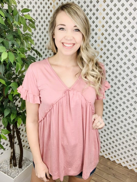 She's A Classic Solid Babydoll Top