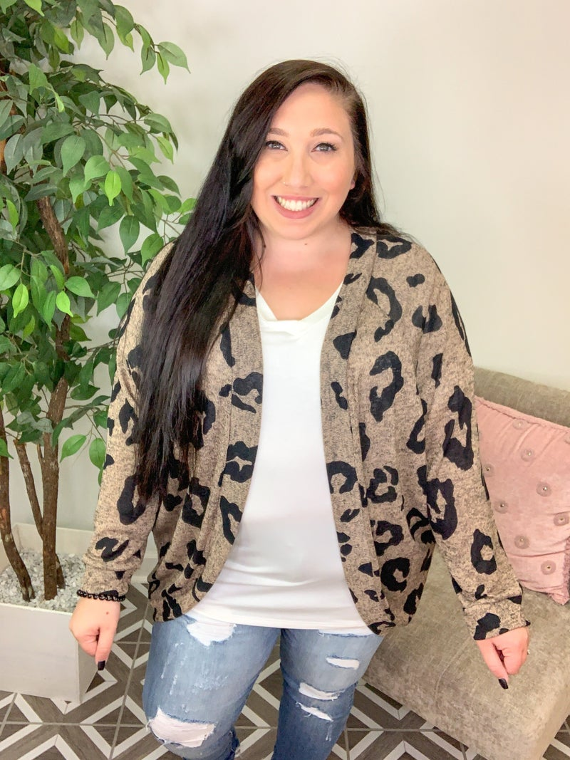 Adapt To Me Leopard Cardigan
