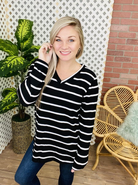 Just Be Yourself Striped Top