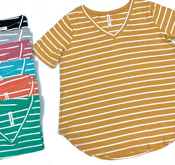 Taking It Easy Striped Top