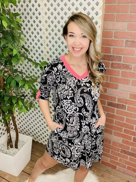 Bright And Bold Paisley Dress