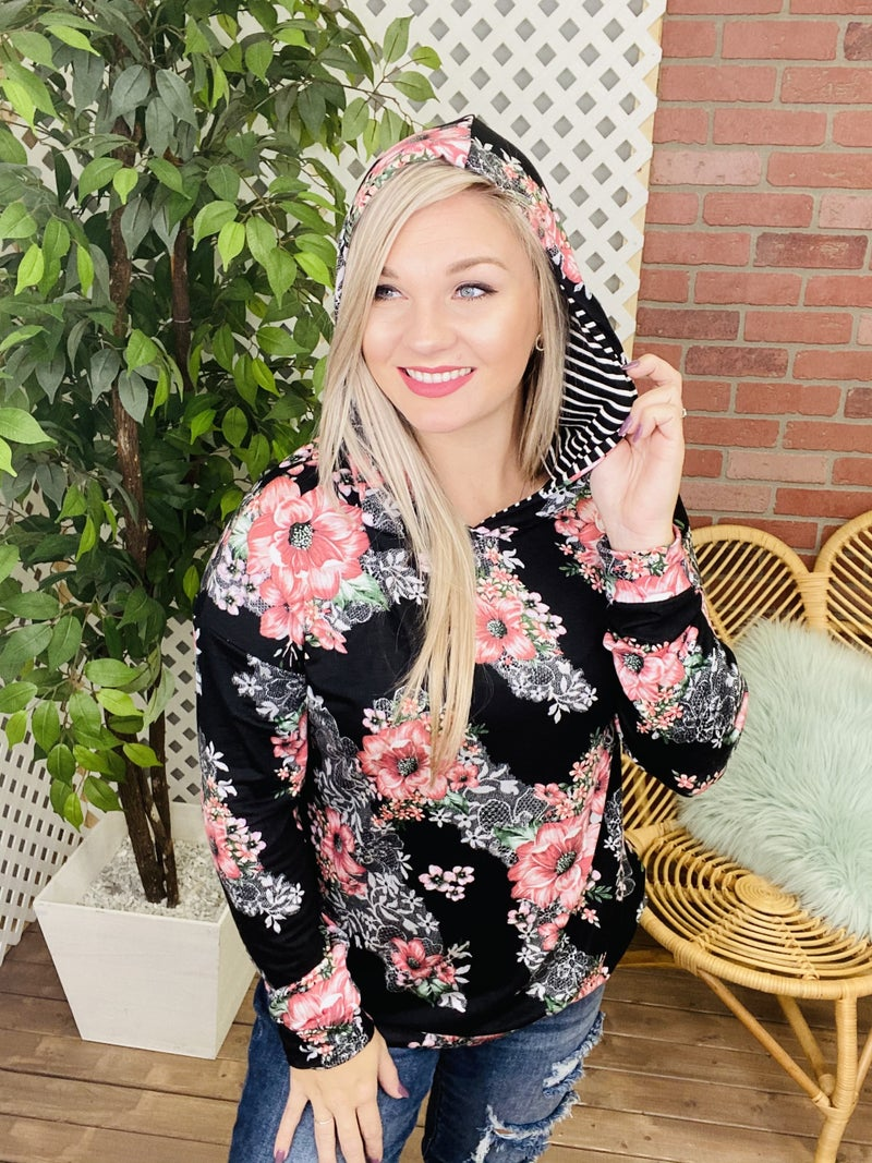 The Perfect Choice Floral Hoodie