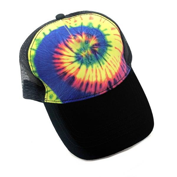 Rainbow TieDye Trucker Hat