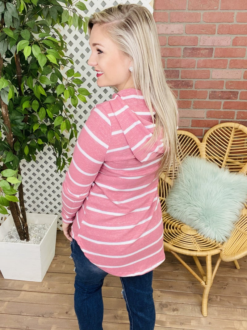 Give And Take Striped Hoodie