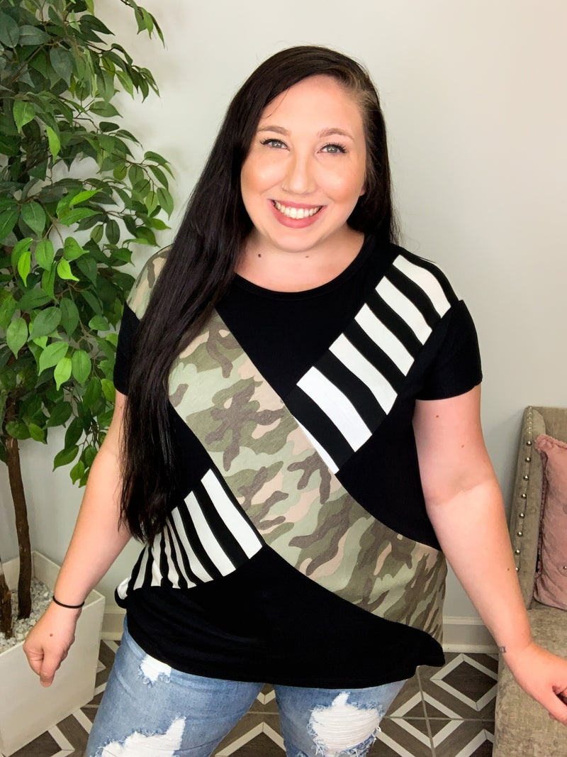 Down For Anything Camo Top